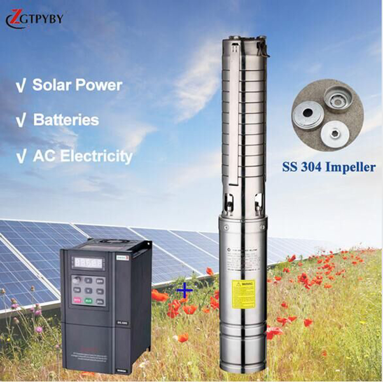 solar panel pump use japanese imported bearing solar power system 3kw solar water pump 220v use japanese imported bearing solar pump 120 m