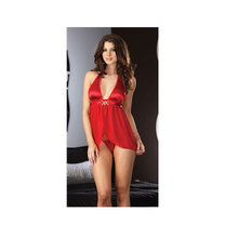 Free Shipping Hot Red Babydoll Product Type and In-Stock Items Supply Type Sexy Woman Lingerie sleepwear babydoll