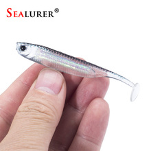 SEALURER fishing Lure 12-24pcs Soft Lure 2.2g/7.5cm for Fishing Shad Fishing Worm Swimbait Jig Head Soft Lure Fly Fishing Bait
