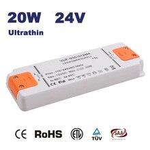 20W 220V 230V 240V to DC 24V Led Transformer Power Supply LED Driver Adapter for Led Light CE RoHS SAA