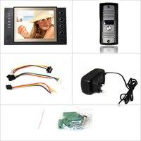 главная безопасность Роско 8 дюймов цветной TFT ЖК-монитор цветной запись видео-телефон двери не с 2 шт. ич камеры