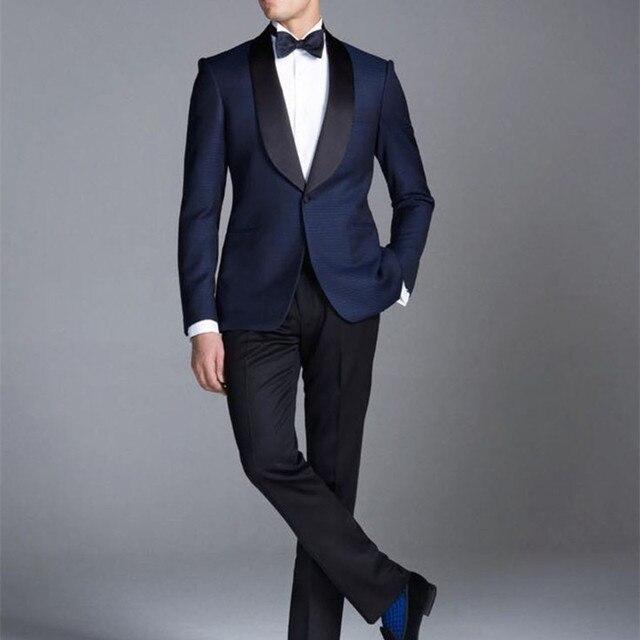 Por encargo de la chaqueta de esmoquin Azul Medianoche Smoking Del ...
