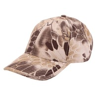 Military Tactical Camouflage Sun Hat Boa Grain Baseball Cap Bionic Outdoor Hunting Camping Hiking Cycling Fishing