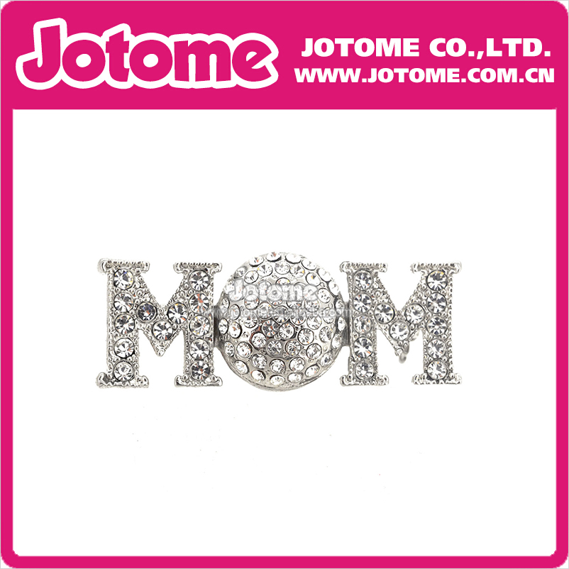 100pcs/lot 38mm/1.5inch Gift Golf Soccer Mom Letter Crystal Rhinestone Brooch Pin Fashion Women/Men Jewelry