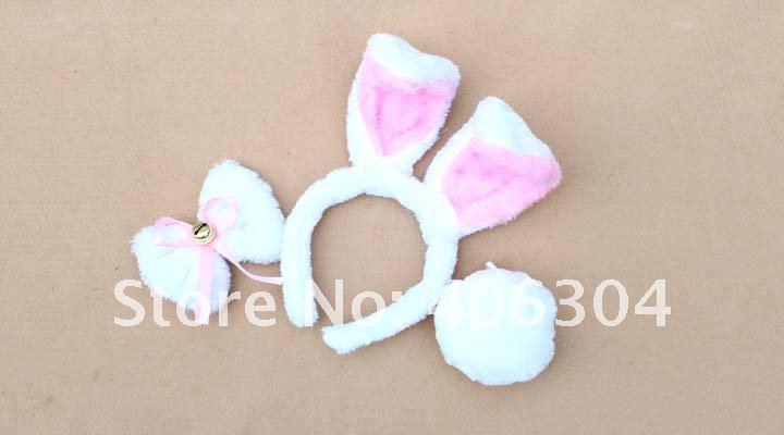 Пасхальное украшение, заячьи ушки, Банни, повязка на голову+ галстук-бабочка+ хвост, вечерние костюмы для детей и взрослых