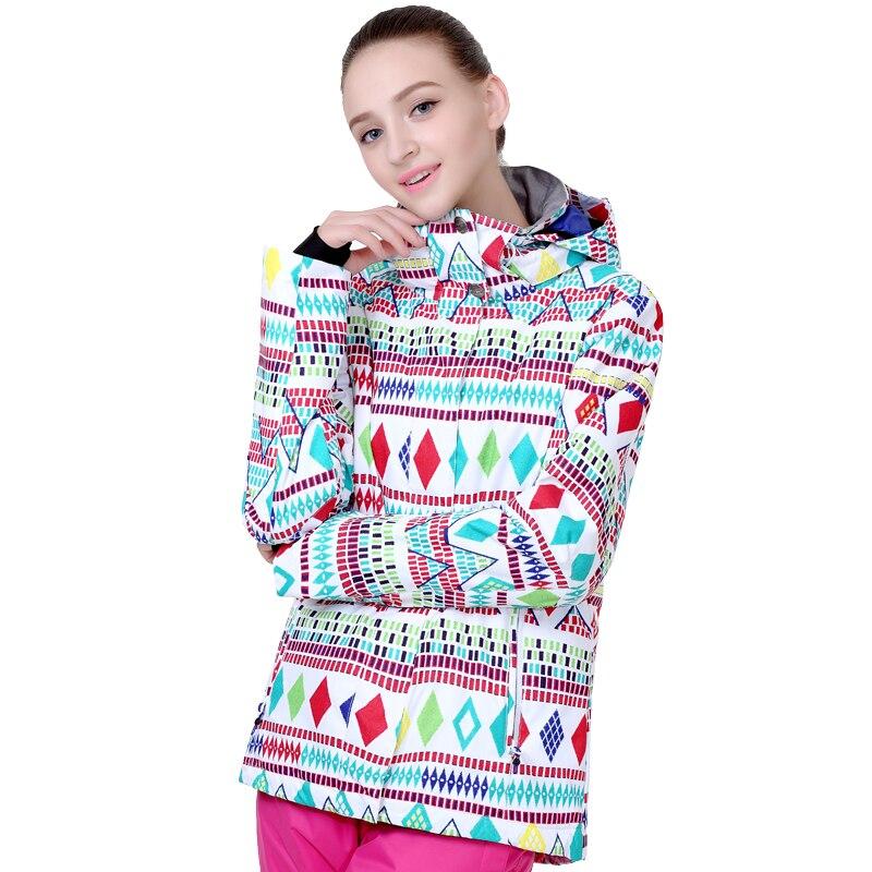 Prix pour Femmes combinaison de ski imperméable à l'eau femelle combinaison de ski placage double conseil de ski vêtements imperméables chaud épais ski costumes femmes