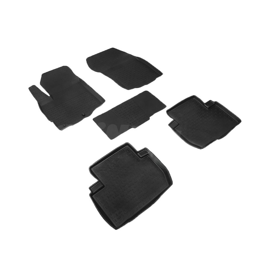 Rubber floor mats for Mitsubishi Outlander XL 2006 2007 2008 2010 2011 2012 Seintex 82129 цена 2017