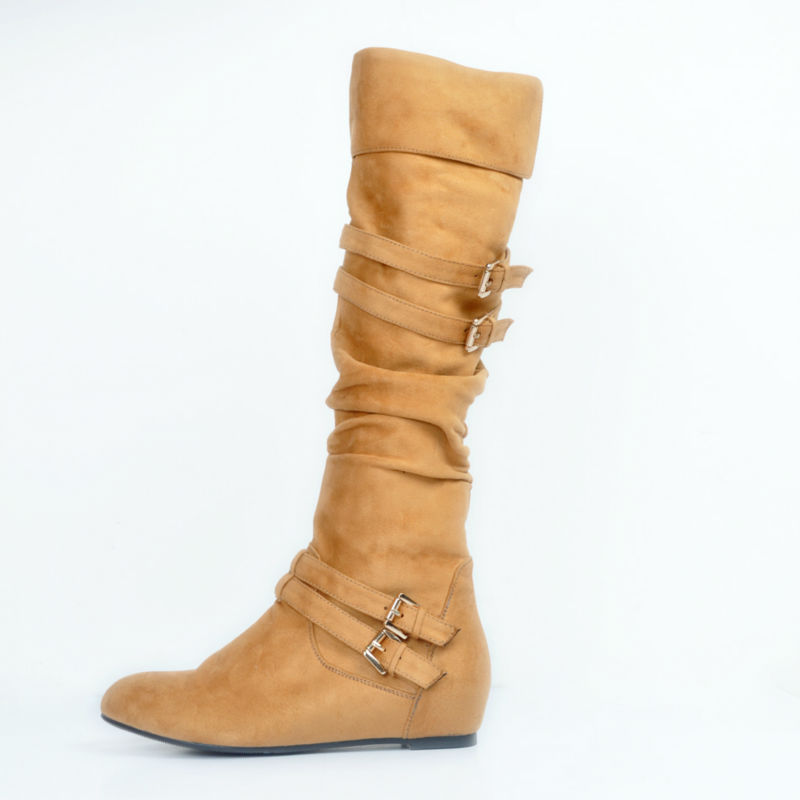 Flat Brown Boots for Women Promotion-Shop for Promotional Flat ...