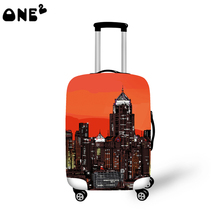 ONE2 fashion style 22,24,26 inch custom any logo and material nylon suitcase protection cover transparent clear luggage cover