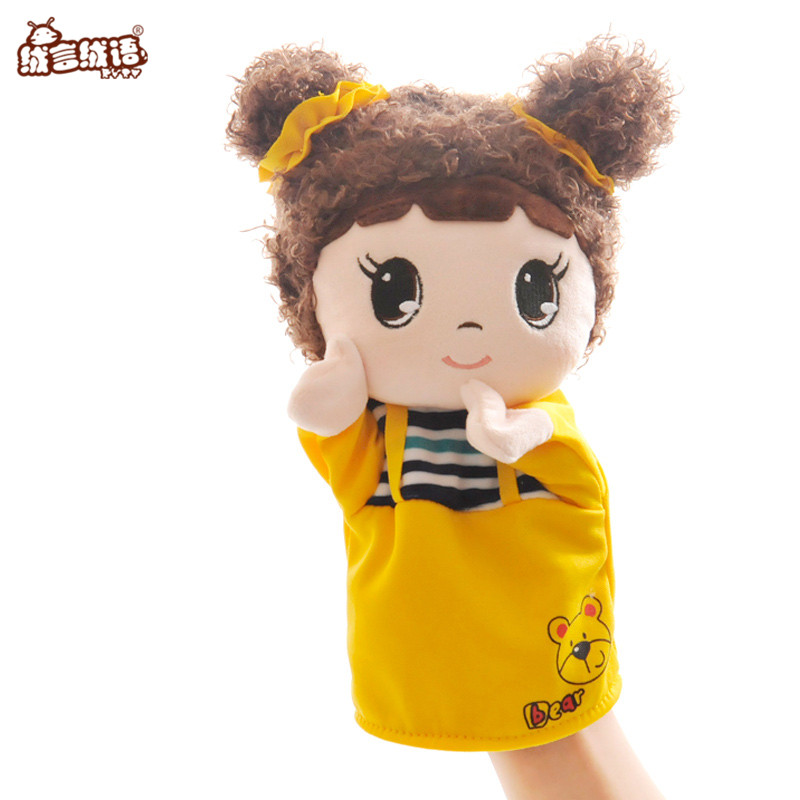 RYRY 26CM Children Doll Hand Puppet Toys Classic Children Figure Toys Kids Doll for Gifts Cartoon Soft Plush Collection все цены