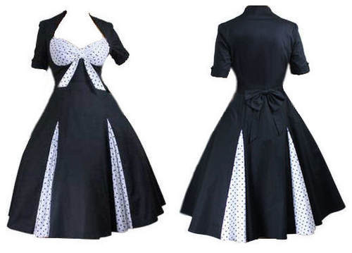 Free Shipping NEW CHIC VINTAGE 1950\'s 1960\'s PARISIAN STYLE DRESS ...