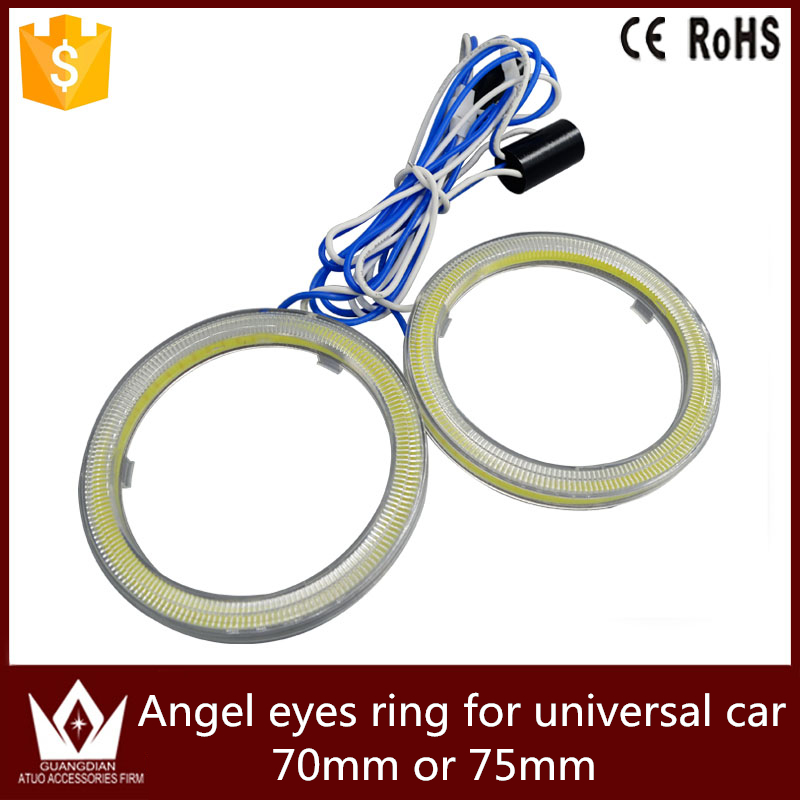 Guang Dian car led light Angel Eyes Halo Ring COB Auto universal Car Motorcycle LED full circle Waterproof Bright 70mm or 75mm other voices full circle cd