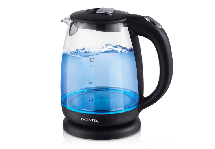 Centek CT-1069 Electric Kettle high-quality Glass blue led Multifunctional Healthy 2L 2200W electric kettle Ship from Russia