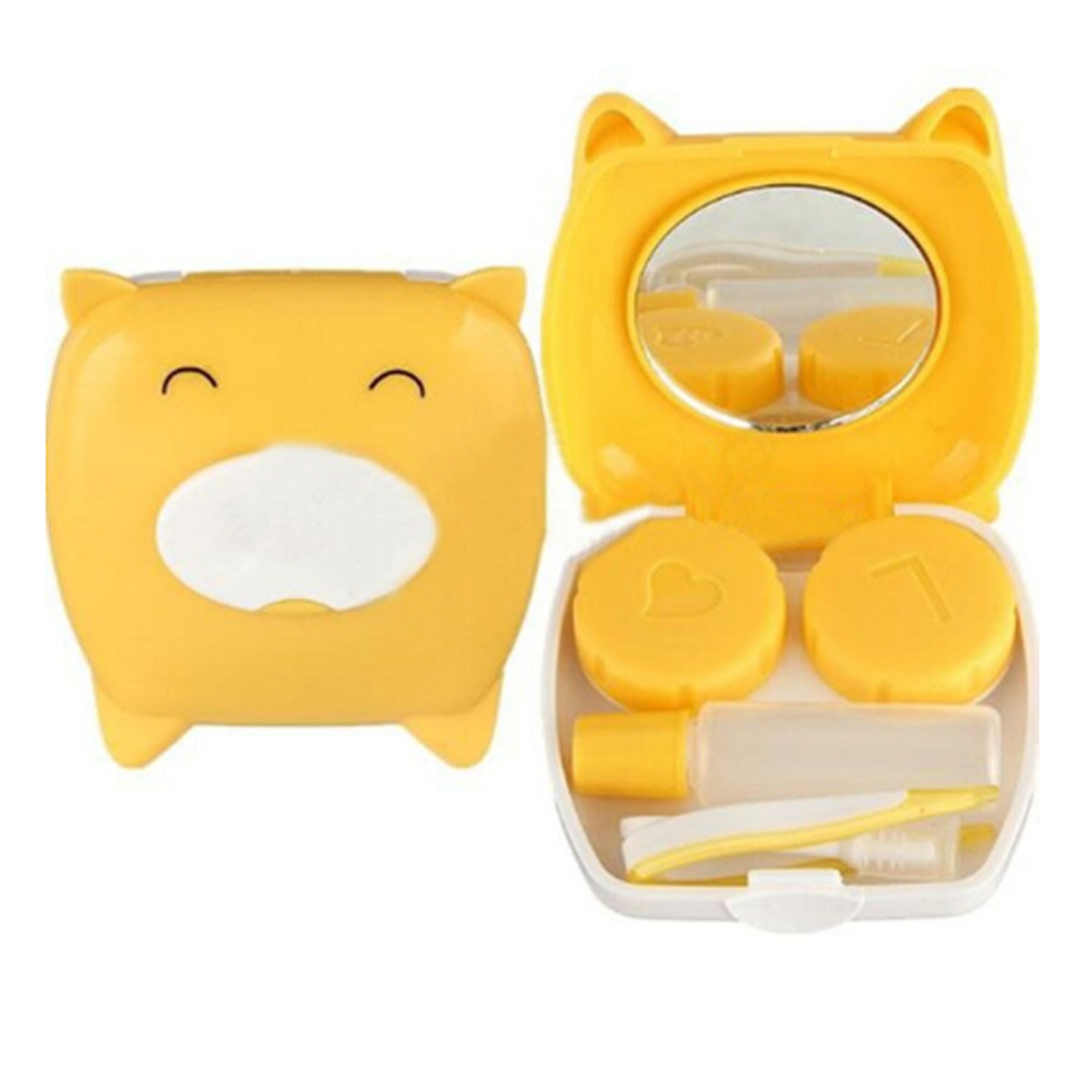 4 color ABS Clean Cute Unisex Pig Cartoon Contact Lens Case Companion Box Contact Lenses Box