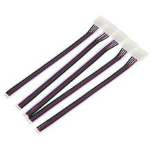 Бесплатная доставка 20 шт 12 мм 5pin Solderless одна сторона провода разъем адаптер для не Водонепроницаемый RGBW 5050 светодиодные ленты