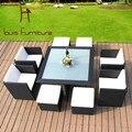Современный номер дома сидел тростника составляет мебель сочетание творческий отдых на природе ткачество ротанга стул подушку