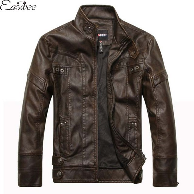 1PC 2016 Autumn Leather Jacket Men Motorcycle Jacket Casual Fashion Jaqueta De Couro Masculina Chaqueta Hombre ZZ3410