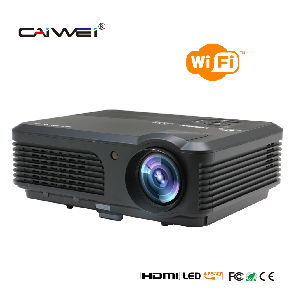 CAIWEI 4200 Lumens 1080P Home Cinema LCD Projector HDMI VGA USB Android LED Projector Wifi for Tablet xbox DVD TV mini lcd led home cinema theater projector vga av sd usb hdmi for phone tablet