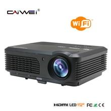 CAIWEI 4200 Lúmenes 1080 P de Cine En Casa Proyector LCD HDMI VGA USB Android LED Proyector Wifi para Tablet xbox DVD TV