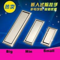 Concealed Hidden Handle Drawer Door Handle Modern Dark Handle Cabinet Doorknob Dark Pull Large Trumpet