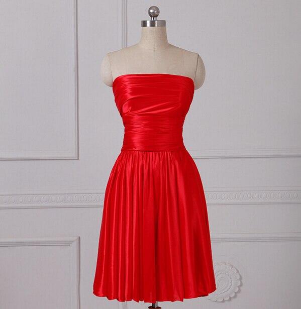 Red Knee Length Bridesmaid Dresses Convertible Dress Multi -4400