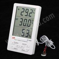 белый цифровой жк-часы дома помещении на открытом воздухе термометр гигрометр метр