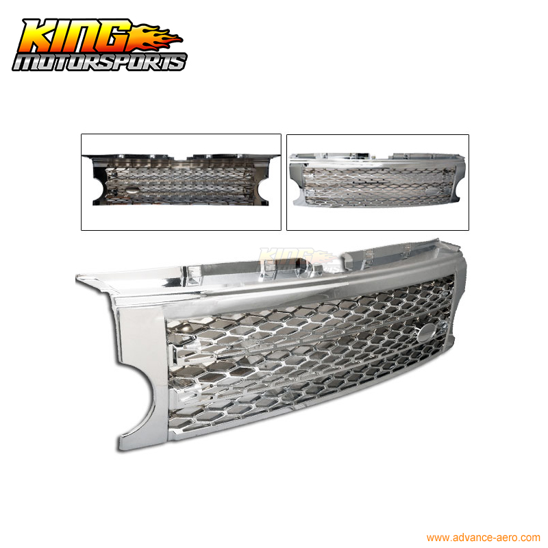 For 2005 2006 2007 2008 2009 Land Rover LR3 Discovery 3 Gray Grill Grille Grey ABS USA Domestic Free Shipping Hot Selling for 07 09 toyota tundra chrome mesh grill grille brand new 2007 2008 2009 usa domestic free shipping hot selling