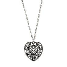 Lureme vintage style hollow сердце шарик кулон ожерелье для женщин choker ожерелье (01003949)