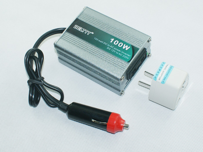 Free Shipping China factory <font><b>100w</b></font> 24vdc to 220vac euro power <font><b>inverter</b></font> 50Hz/60Hz Russia image