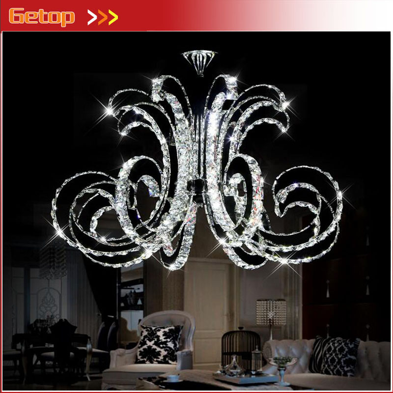 ZX Modern LED Crystal Ceiling Lamp Luxury Art Lustre LED Chip Lamp Fixture for Hotel Restaurant Sittingroom Crystal Droplight noosion modern led ceiling lamp for bedroom room black and white color with crystal plafon techo iluminacion lustre de plafond