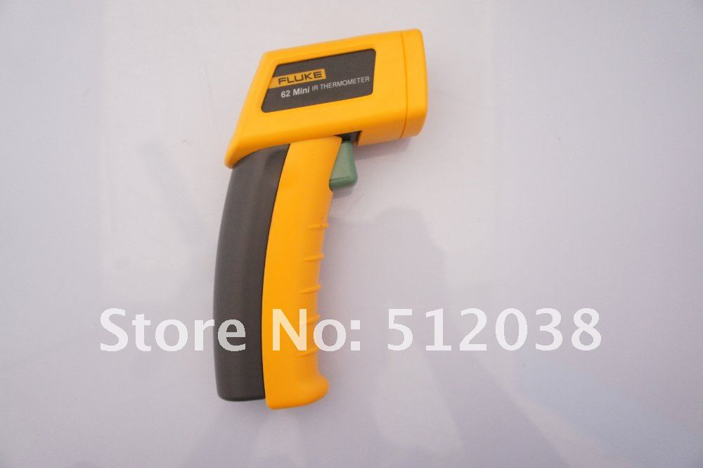 1pc Fluke 62 Mini Infrared Thermometer 9V Battery User Manual Payment If