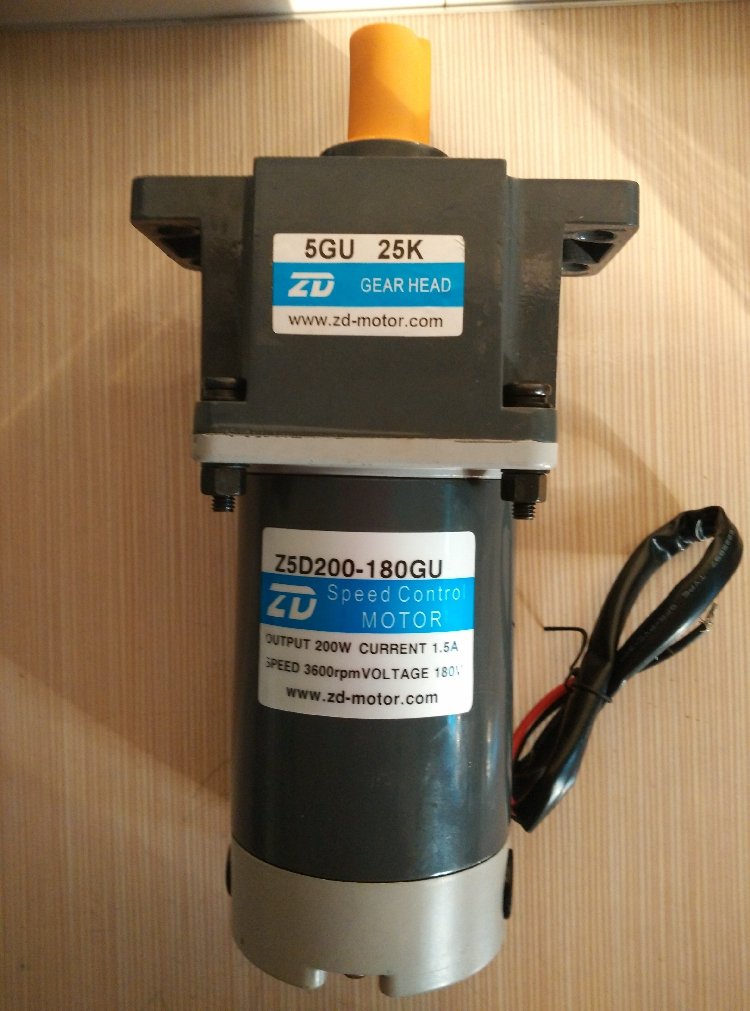 ac motor 90mm Large 200W DC Geared Motor DC180V DC Permanent Magnet Motor With 3000 Rpm Governor  zgb60fm g dc 24v 90rpm 8mm shaft diameter permanent magnet geared motor