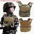 Alta qualidade 1000D oxford fãs Do Exército ao ar livre Paintball Airsoft JPC vest crianças mini versão Colete Transportadora Placa molle tático
