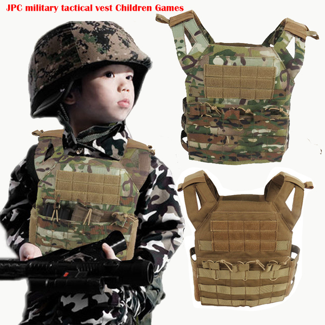 High quality 1000D oxford Army fans outdoor Paintball Airsoft molle tactical JPC vest children mini version Plate Carrier Vest