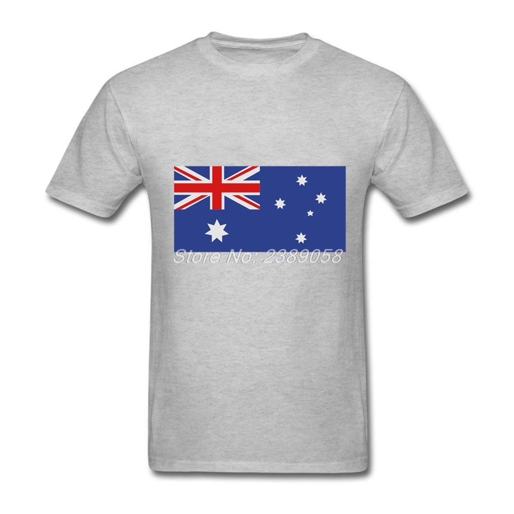 Design your own t-shirt in australia - Cool Men Shirt Flag Australia Latest Short Sleeve O Neck Tee Shirts Cotton Cheap Price