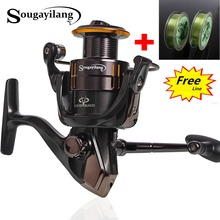 Sougayilang Spinning Fishing Reel Full Metal 13+1BB High Speed WQ2000-5000 Spinning Carp Fishing Coil Wheel Line as Free Gift