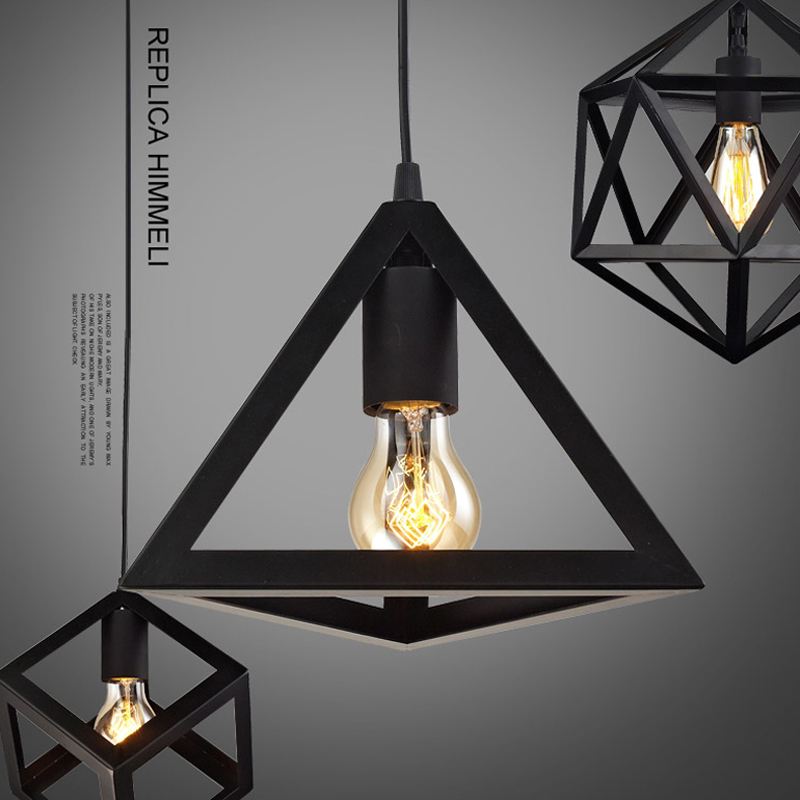 Iron Black Loft Vintage pendant light E27 Edison Bulb Dia*25cm For Dining Room Bar Coffee Shop Decoration Pendant lamp Fixtures от Aliexpress INT