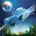 Mini 3CH RC Submarino de Juguete de Control Remoto Con Cable USB Navidad Niños Regalo de Cumpleaños