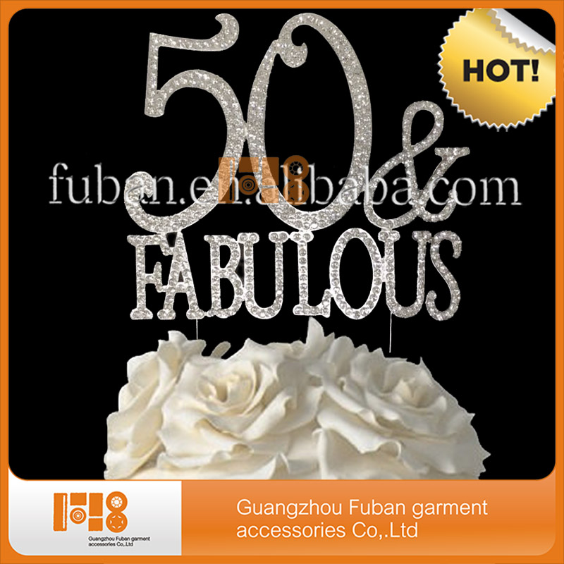 20 pieceslot13512 cm crystal rhinestone cake topper 50
