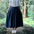 Mulheres marca saias longas de algodão de linho sólidos pockets elastic elegante vintage a linha plissada saia longa saia maxi ocasional 7 cores