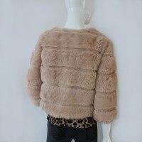 бесплатная доставка новый теплый женская зима натуральный мех пальто