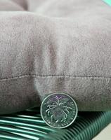 ткань замши стул подушки стул площадку e155