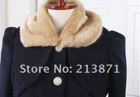 алибаба экспресс новый осень и зима женщин пальто, пальто мода нейлон, меховой воротник дизайн, горячая распродажа ремень