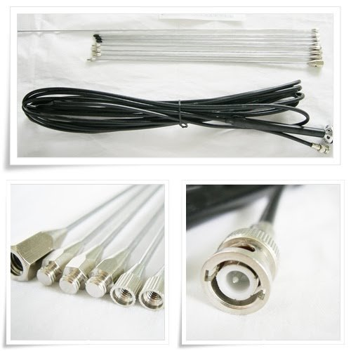 Promotion! 10pcs/lot 1/4 wave GP Antenna for 5w,7w,15w,30w,50w,100w FM Transmitter BNC with 8meters 26ft. cable  free shipping