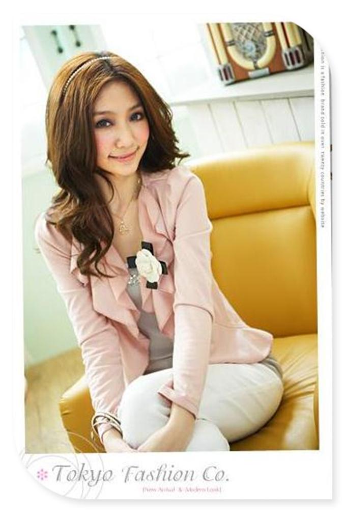 горячие продажи элегантная дама шифон верхняя одежда женская цветок камелии волны шифон кардиган куртка с коротким дизайн верхней одежды 3 цвет