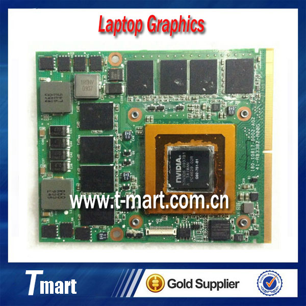 GTX 260M GTX260M 1GB WDXVH G92-751-B1 P/N: 0WDXVH 96RJ4 VGA Video Card for Dell M15x M17x R1 laptop free shipping