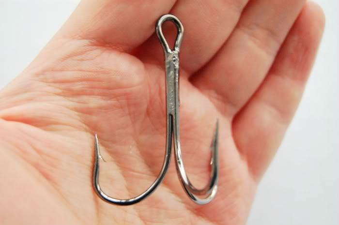 6//0 Treble Hooks Lot of 6 Hooks