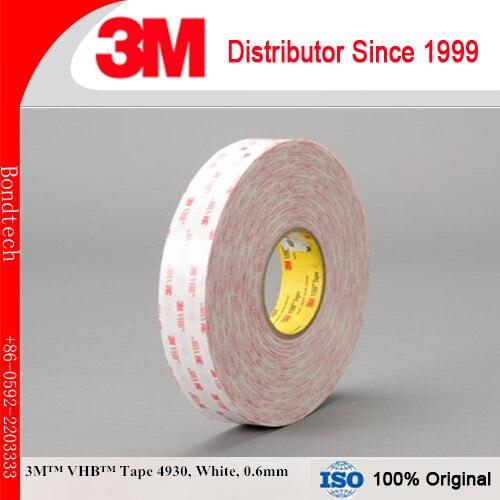 3m 4930 VHB Double Face Ruban Blanc, 1 po x 36 yd, 0.6mm (Paquet de 1)3m 4930 VHB Double Face Ruban Blanc, 1 po x 36 yd, 0.6mm (Paquet de 1)