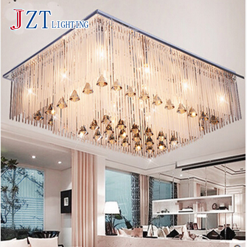 T Modern Luxury Crystal Light Rectangular LED Lamp For Bedroom Sitting Room Restaurant Romantic Simple Free Shipping