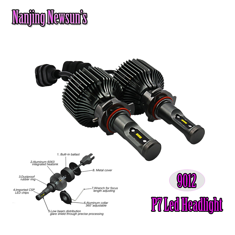 P7 Gen 4200Lm CSP Car Led Headlight Kit 9012 HIR2 Auto Car Driving Headlamp Bulbs Kits H4 H7 H8/H9/H11 H10/HB3/HB4/HB5/HB2 9008 от Aliexpress INT
